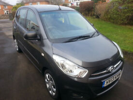 2013 Hyundai i10 1.2 petrol low mileage £20year tax.