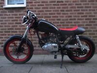 suzuki gn 125 custom cafe racer style motorbike nice little classic bike