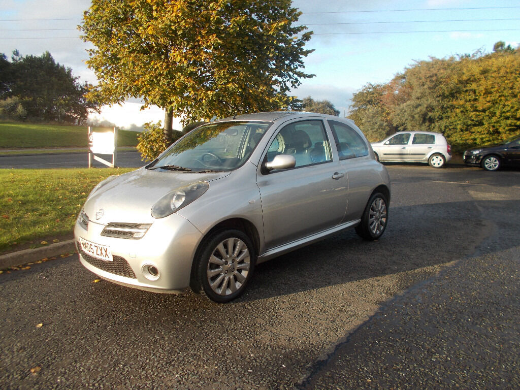 nissan micra 160 sr hatchback stunning silver 2005 only. Black Bedroom Furniture Sets. Home Design Ideas