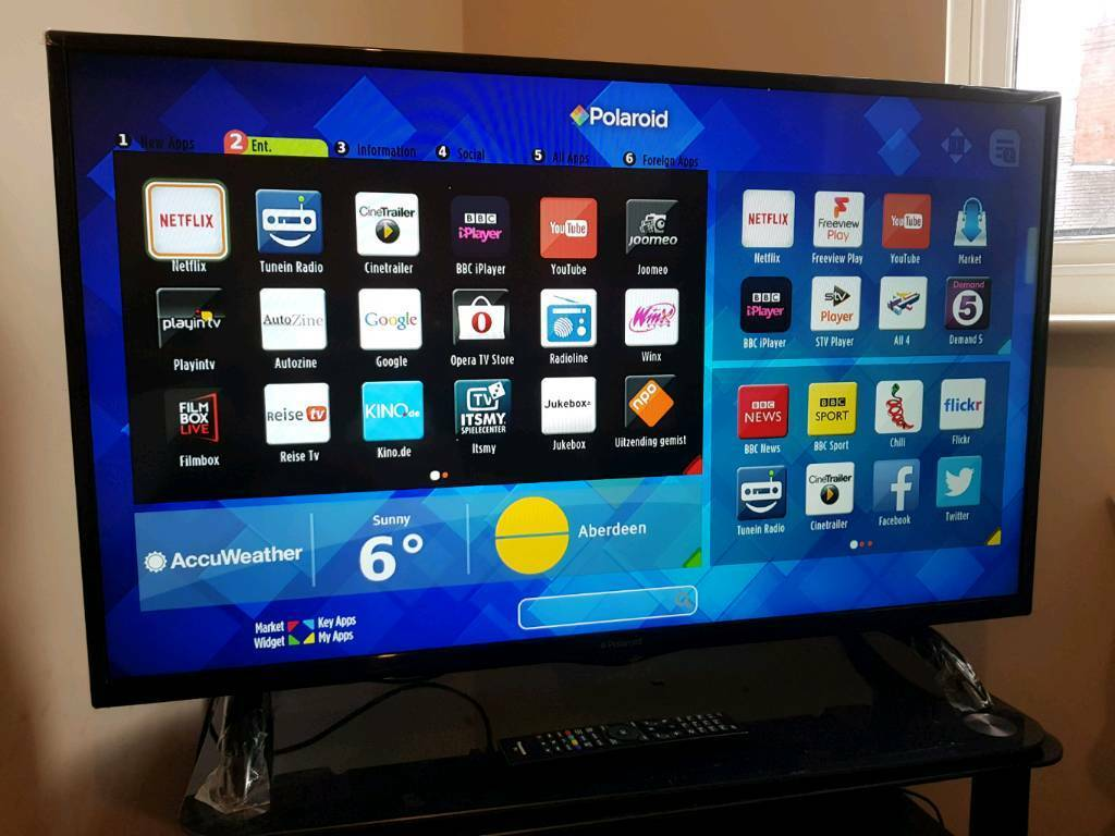 Polaroid 43 inch Smart led tv with built-in WiFi