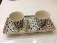 French tray and cups