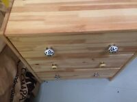 X2 pine chest of drawers