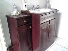 Mahogany effect bathroom vanity set