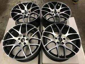 "18"" VMR Style Black & Machined Audi Wheels"
