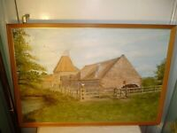 OIL PAINTING OF PRESTON MILL,EAST LOTHIAN.AS FEATURED IN OUTLANDER.