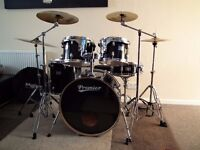 Premier Cabria full drum kit , Paiste cymbals and Double bass pedal ! Excellent condition !
