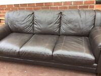 Chocolate brown 3/4 sofa lovely condition no rips scratches or fading from dfs