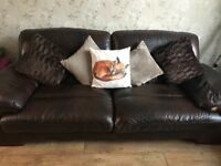 Csl Leather 3 2 Seater Sofas And Footstool