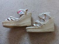 wedge sandals brand new