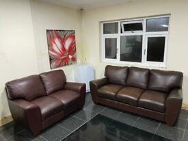 3&2 seater Real Leather sofa set
