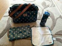 Kath Kidston baby change bag with accessories