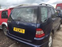 Mercedes Benz ml 270cdi parts available bumper bonnet radiator gearbox auto