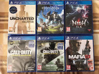MAFIA - HORIZON - UNCHARTED - CALL OF DUTY - BRAND NEW & SEALED PLAYSTATION 4 GAMES PS4