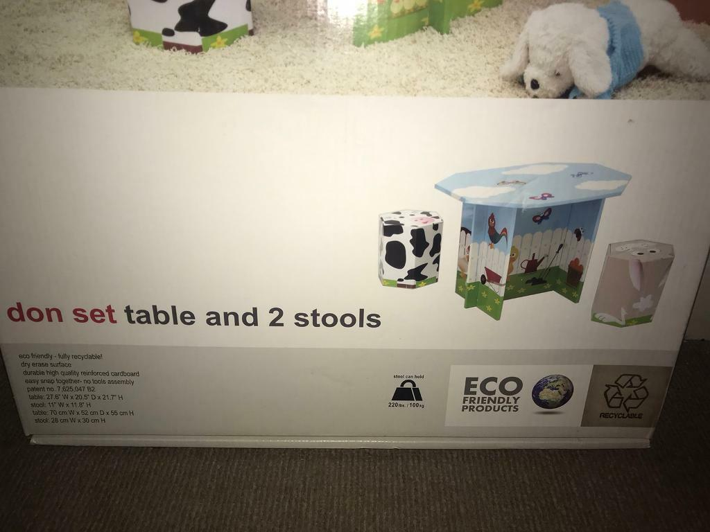 Krooom Don Set Children S Table And 2 Stools Eco Friendly Brand New In Box In Long Eaton Nottinghamshire Gumtree
