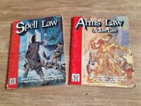2 x rpg books arms law / spell law i.c.e
