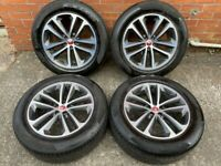 19'' GENUINE JAGUAR F PACE 5 DOUBLE SPOKE ALLOY WHEELS TYRES ALLOYS 5X108