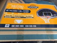 Basketball New (boxed) hoop, net and back board