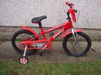 Bikes to suit age 5 to 7 years with 16 inch wheels £35 each