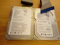 2 seagate 160gb hard drive pata connection
