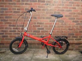 Dahon Ford folding bicycle bike red