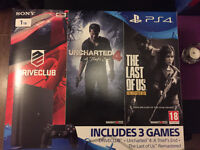 BN&S SONY PS4 Slim 1TB Triple Pack Uncharted 4 +The Last of Us:Remastered+Driveclub with warranty