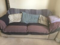Two double, comfortable sofas for sale in Tottenham!