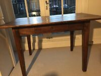 Antique wooden dining table or desk