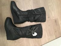 BRAND NEW Black Winter Boots Size 6