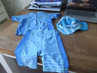 Age 2-3 Years Tops, Shorts and Hat Swim Set