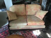 Bergere settle and 2 chairs