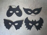 NEW - Smiffys Black Cat, Bat & Owl Foam Masks x 15 - RRP £22.50