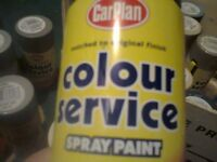 40 Assorted cans of paint