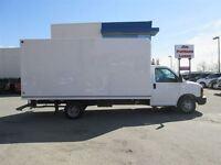 2014 GMC Savana 3500 6.0L 16 Ft. Unicell Cube Van w/ Mandoor & R