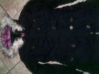 GIRLS WINTER COAT WITH FUR ROUND HOOD - NEW 4 DIFFERENT SIZES ONLY £5 !!!!