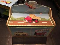 Wooden transport toy chest