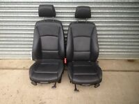 BMW 3 SERIES TOURING F31 M SPORT FULL BLACK LEATHER SEAT SET