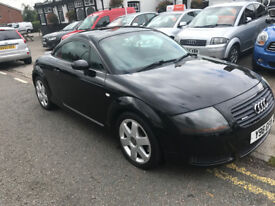Audi tt 180 bhp VERY NICE CONDIYION IN BLACK WITH UN MARKED LEATHER FSH ALLOYS PX POSS