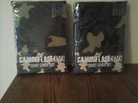 Camouflage double duvet set x 2