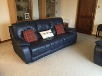 Price slashed-Three Piece Reclining Leather Suite-Great condition, may consider selling indivually
