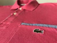 Genuine Lacoste Polo size 2 - Pink - Excellent Condition