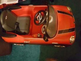 Electric Red Mini cooper car