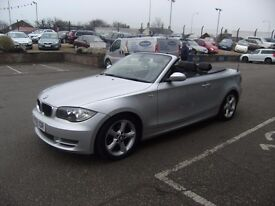 CONVERTIBLE! 2008 08 BMW 1 SERIES 2.0 118I SE 2D 141 BHP *** GUARANTEED FINANCE *** PART EX WELCOME