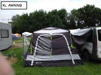 Drive away awning with annex and sleeping pod.