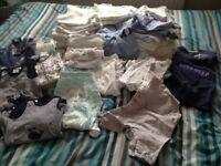 Bundle baby boy clothes 9 - 12 lbs