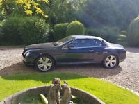 chauffeur driven BENTLEY CONTINENTAL ( soft top/convertable ) seats 3 + driver