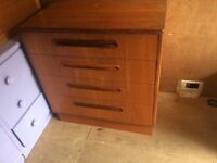 G plan chest of draws retro