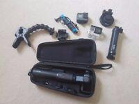 GoPro Hero 5 Black + Karma Grip + LOTS of Mounts and Accessories.