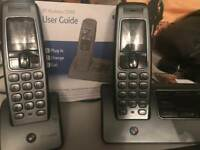 BT Hudson twin cordless phones with answering machine.