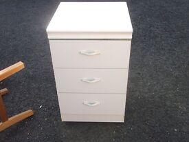 small set white bedroom draws
