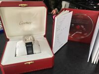 Cartier Santos XL Diamond Face watch